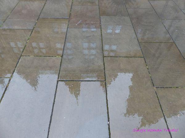 Reflection of Hamburg Rathaus in Germany