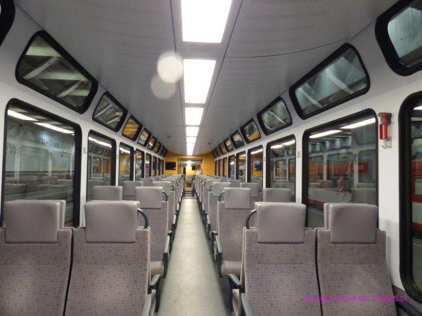 SBB train between Visp and Zermatt