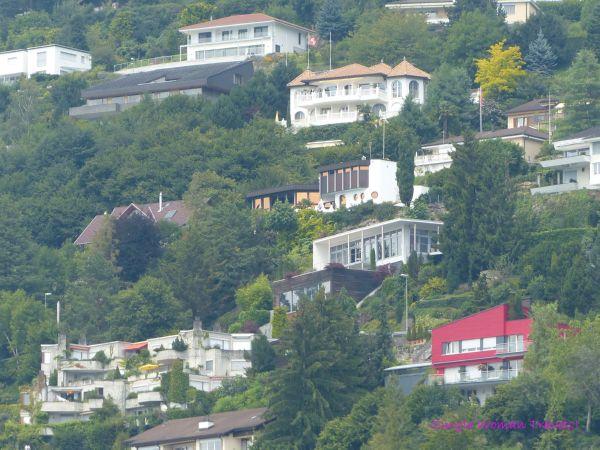 Red house on hillside