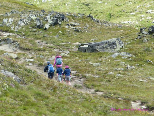 The last group of hikers I saw as I decended from Gornergrat to Zermatt