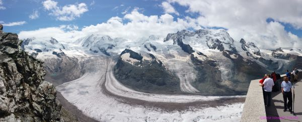 View of glaciers from Gornergrat Switzerland