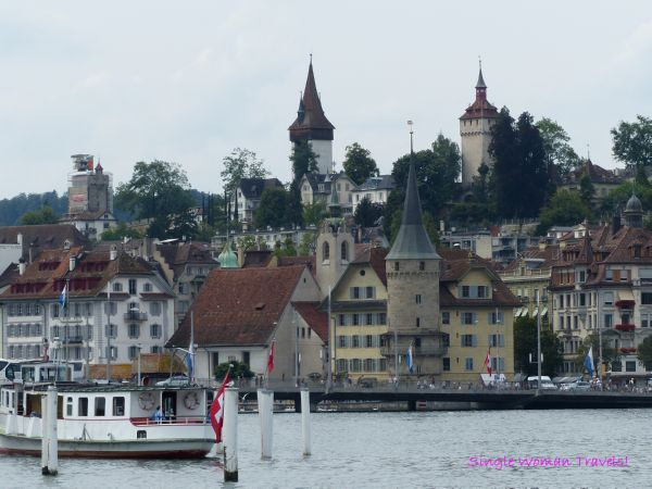 View of old town Lucerne