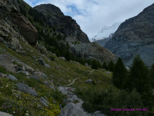 Hiking trail on Gornergrat Switzerland