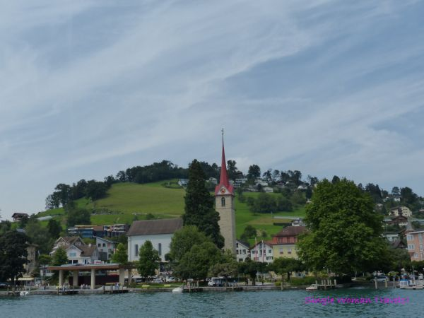 Church of Weggis on Lake Lucerne