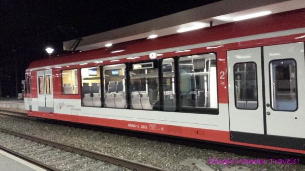 Zermatt Matterhorn train from Visp SBB Switzerland