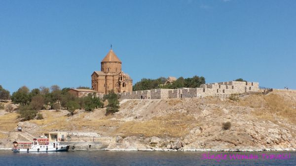 Akdamar Kilisesi - Church of Holy Cross on Akdamar island Lake Van Turkey