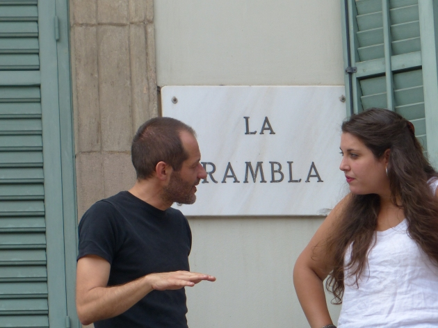Barcelona La Rambla - conversation 1