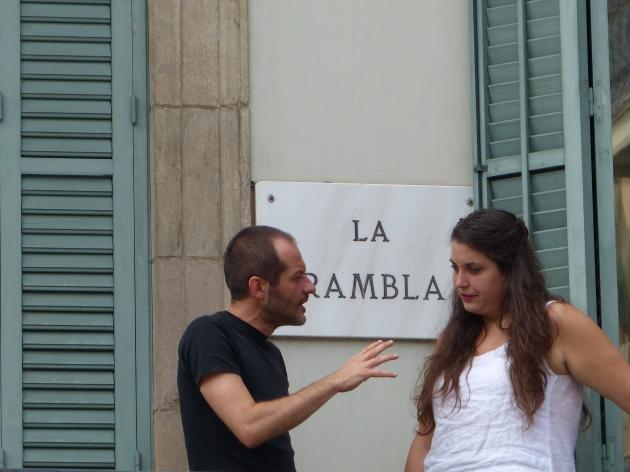 Barcelona La Rambla - conversation 2
