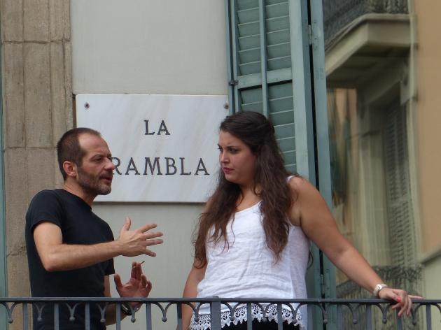 Barcelona La Rambla - conversation 3