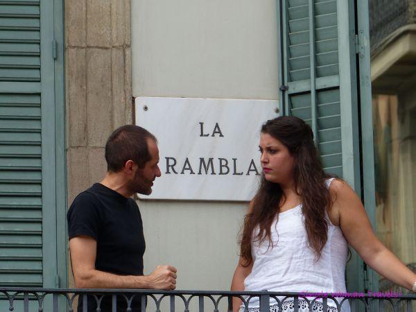 Barcelona La Rambla - conversation 4