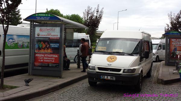 Dolmuş Minibus station in Rize Turkey