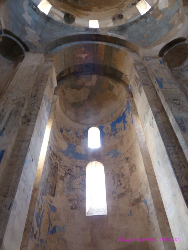 Frescoes inside Akdamar Kilisesi - Church of Holy Cross on Akdamar Island Lake Van Turkey