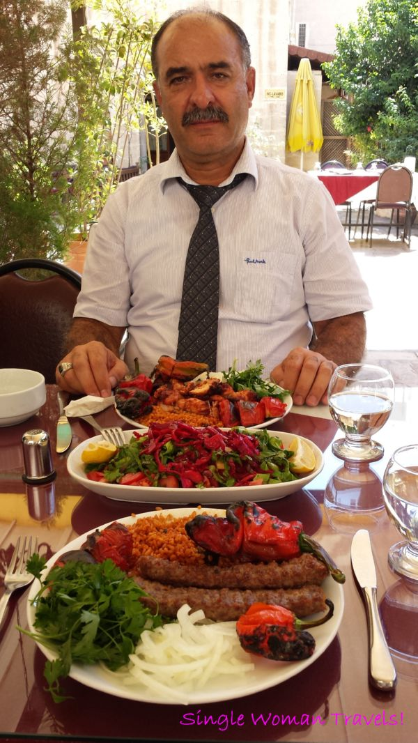 Friendly Turkish postman who bought me lunch in Sanliurfa Turkey