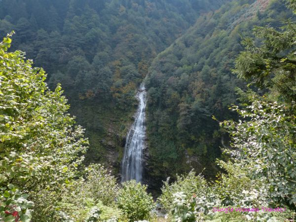 Gorgeous waterfall Ayder Kaçkar Mountains Turkey