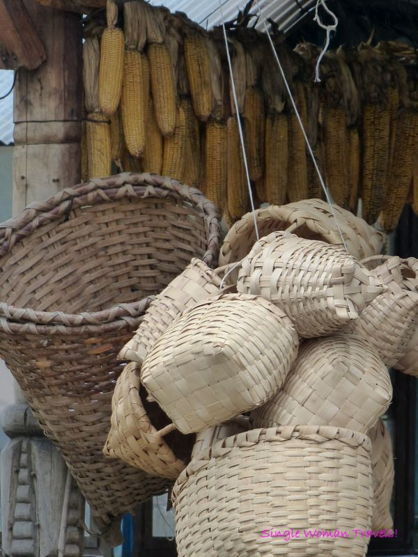 Handmade baskets found in Ayder Kaçkar Mountains Turkey