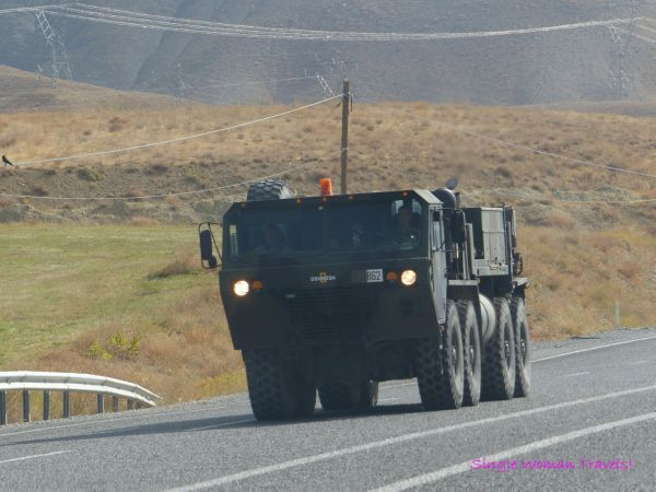 Military presence outside of Van Turkey - close to border with Iran