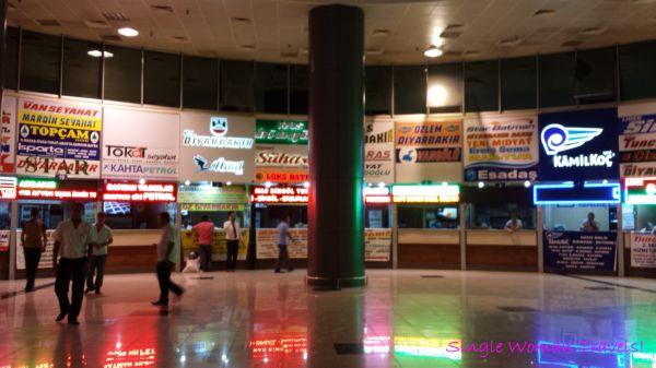 Selection of various bus companies in Van bus station Turkey