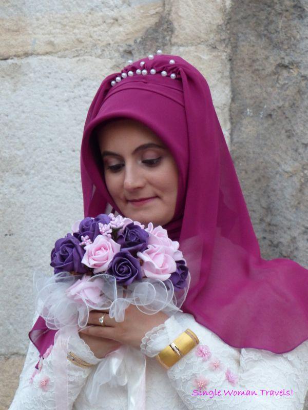 The Turkish bride in Safranbolu Turkey