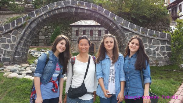Turkish girls asked to have their photo taken with me in Rize Turkey