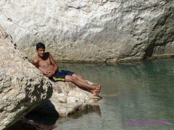 Turkish tourist at Mount Nemrut Turkey