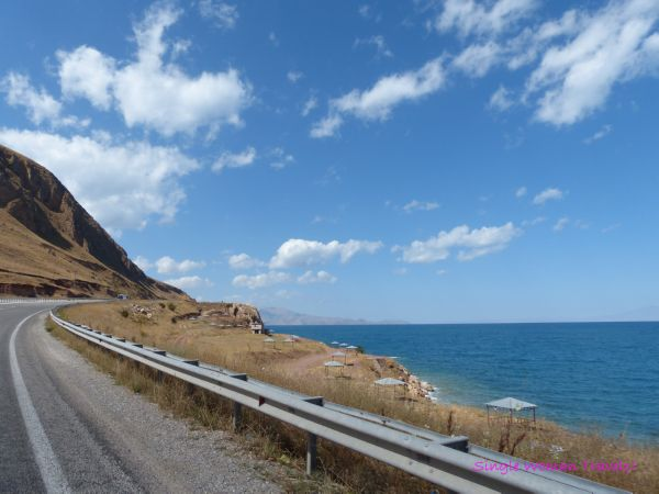 View along Lake Van Turkey
