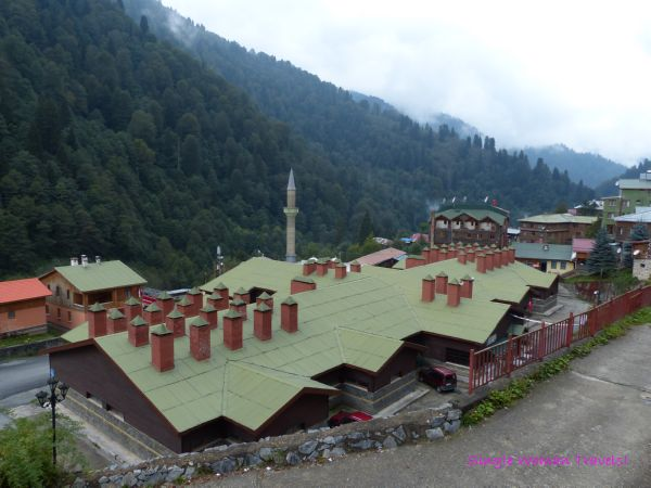 View of thermal bath and Ayder mosque Turkey