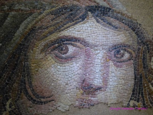 Zeugma mosaic museum - gypsy girl - Turkish mona lisa