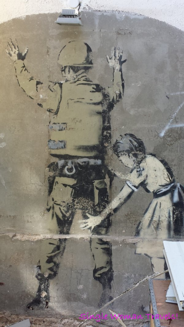 Graffiti by Banksy found in Bethlehem Palestine