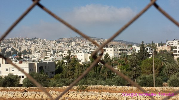 Fenced in city of Bethlehem Palestine