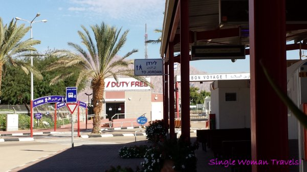 Duty Free shopping after all legal matters are complete at Eilat border crossing in Israel