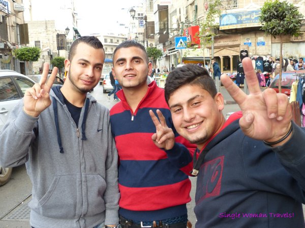 Group of young man in Ramallah Palestine