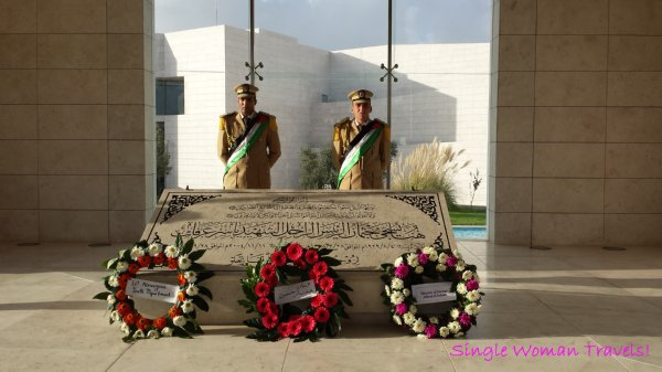 Guards protect Yasser Arafat memorial Ramallah Palestine