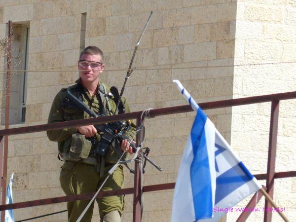 Israel IDF soldier inside Hebron Palestine