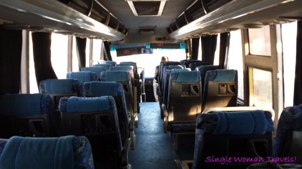 Jordanian bus from Amman Jordan to King Hussein border crossing to Israel