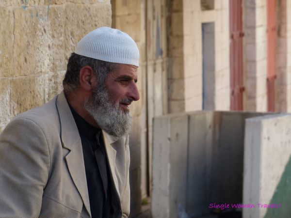 Old man in Hebron Palestine