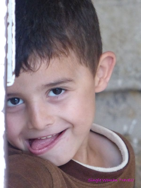 Shy boy in Hebron Palestine