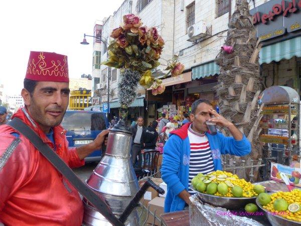 Street vendors in Ramallah Palestine