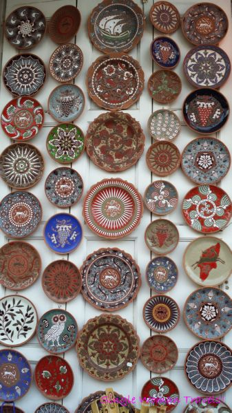 Travel Thought Thursday - 2014 Merry Christmas - Unique handmade plates sold as souvenirs at Lindos on Rhodes island, Greece