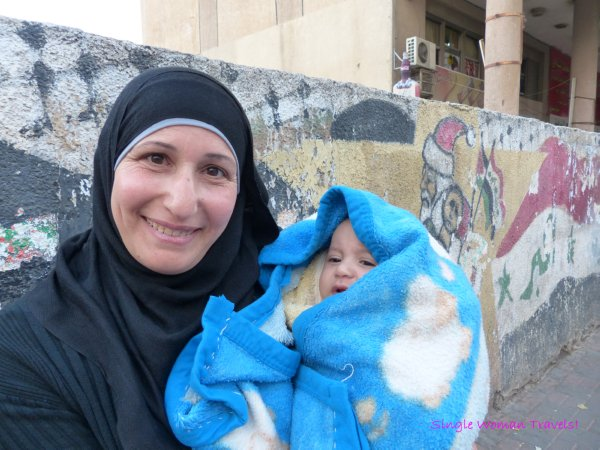 Woman with baby in Ramallah Palestine