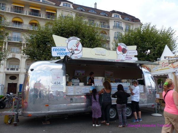 Airstream trailer and frozen yogurt defines summer Geneva Switzerland