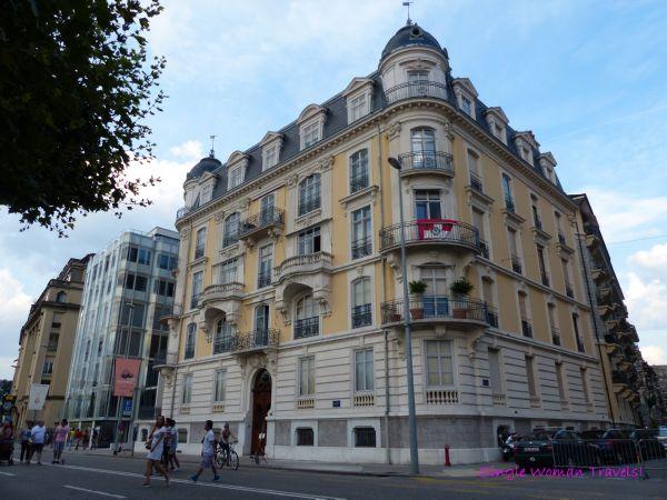 Beautiful architecture easily found in Geneva Switzerland