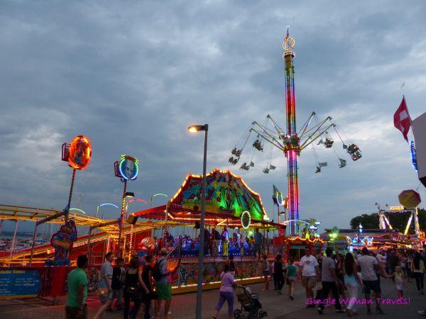 Boardwalk buzzing with activities during Geneva festival Switzerland