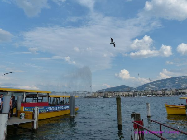 Ferries to cross the lake Geneva Switzerland