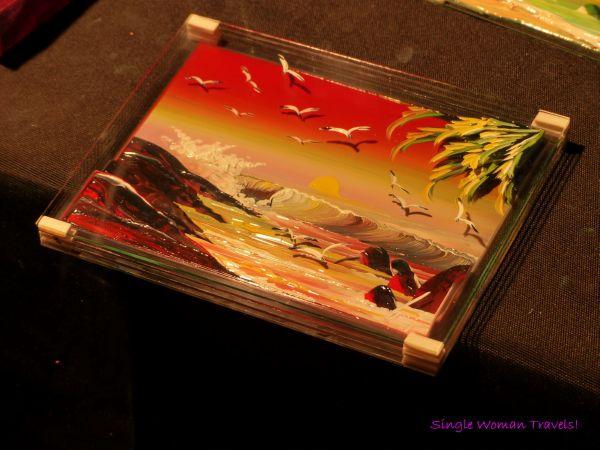 Finger painting on glass Geneva Switzerland