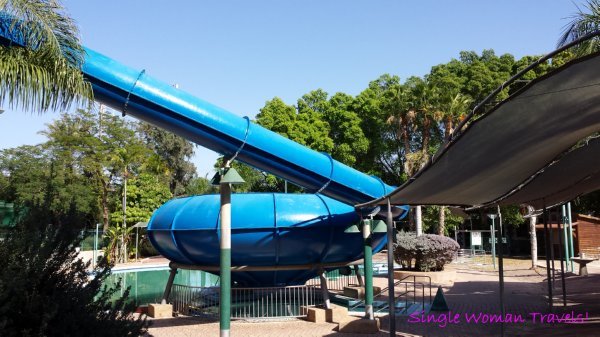 Hamat Gader Israel hot spring spa children waterslide area