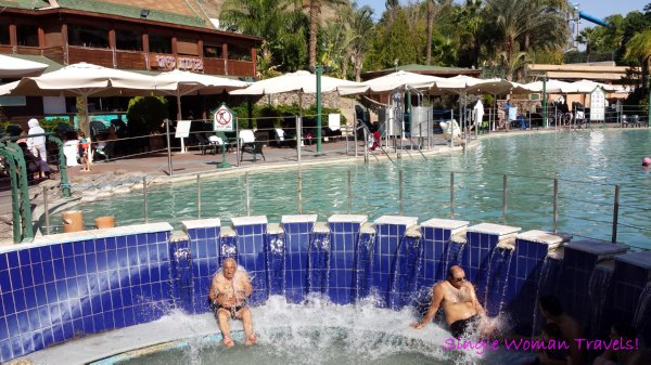 Hamat Gader Israel hot spring spa outdoor area