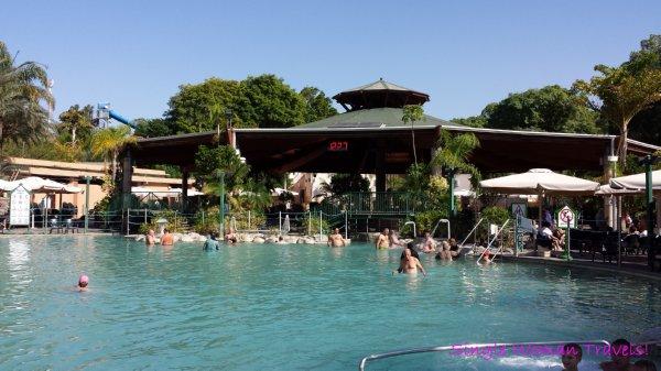 Hamat Gader Israel hot spring spa outdoor pool area