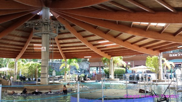 Hamat Gader Israel hot springs spa main pool jets