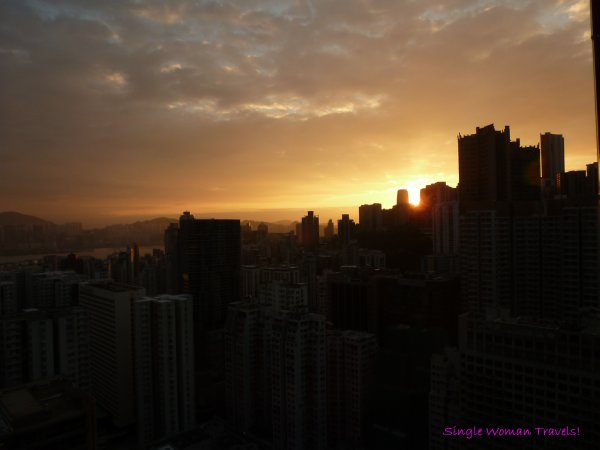 Daybreak on Hong Kong Island