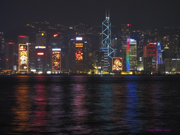 Night view of Hong Kong Harbour